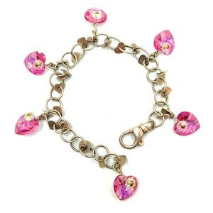 Swarovski Heart Sterling 925 Charm Bracelet Chain